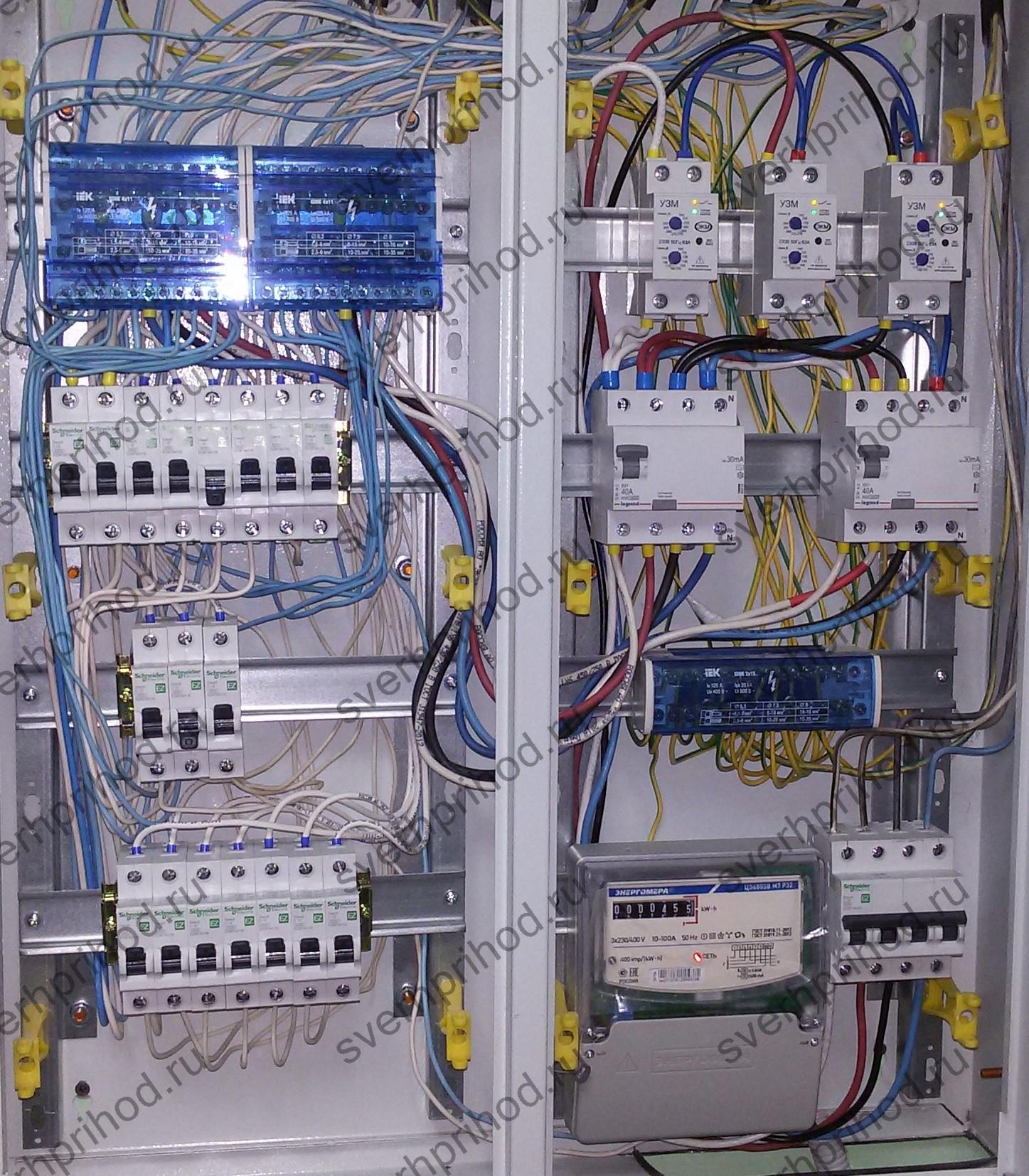 Современный электрический щит с полноценной защитой потребителей и сети